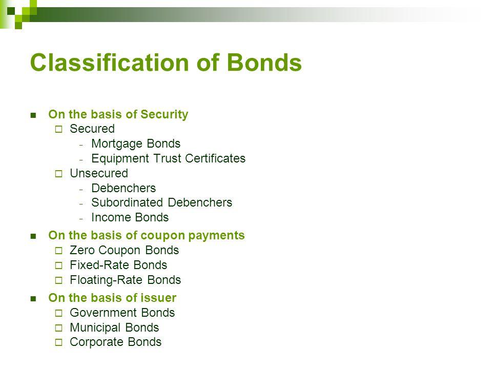 Bonds Preferred Stocks Common Stock Chapter Structure Bonds