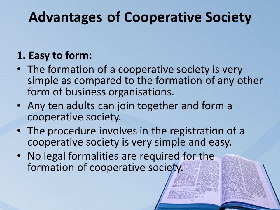 advantages of cooperatives