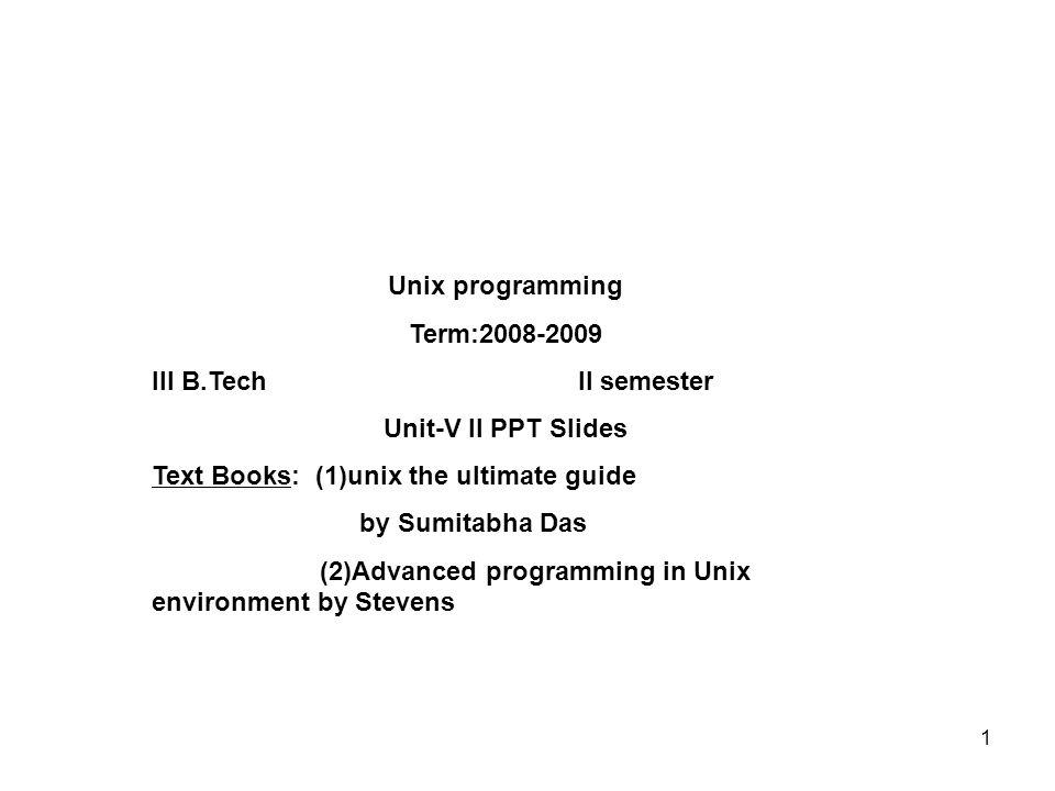 UNIX BOOK BY SUMITABHA DAS PDF