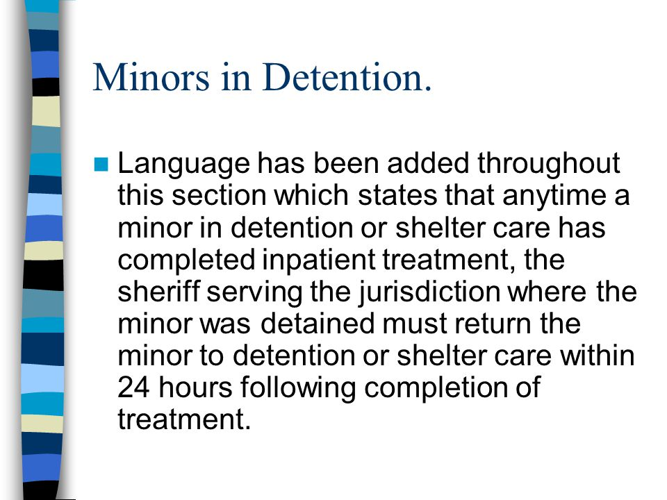 Minors in Detention.