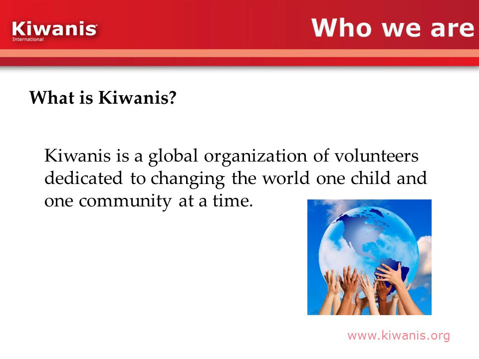 What is Kiwanis.