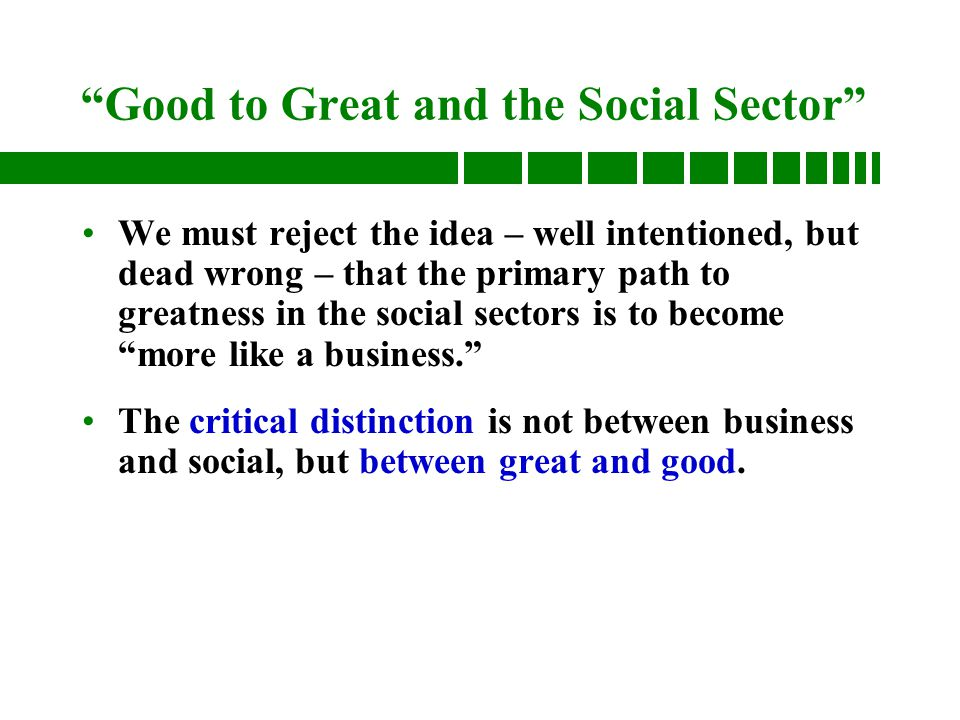 Good to great and the social sector fitting the pieces together 3 good to great and the social sector fandeluxe Gallery