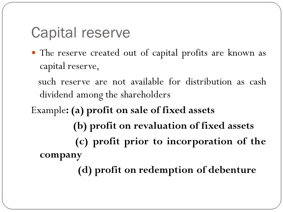 Difference between revenue reserve and capital reserve (with.