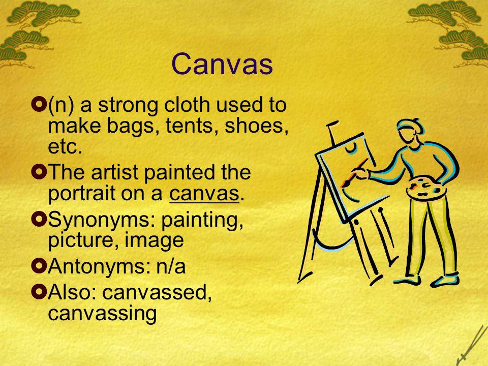 Words  Abort  Abrasive  Canvas  Impromptu  Obsession