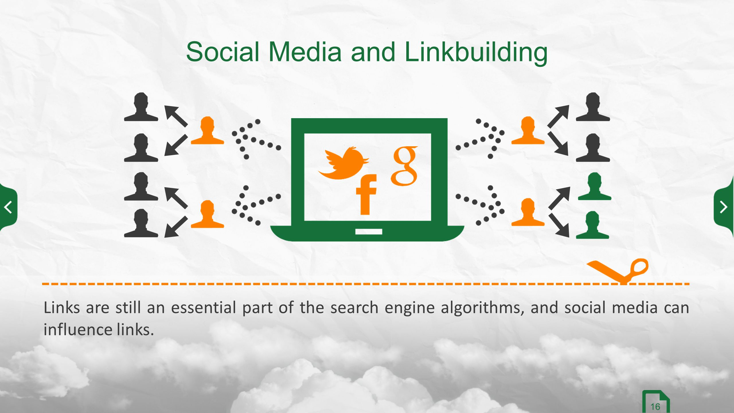 Links are still an essential part of the search engine algorithms, and social media can influence links.