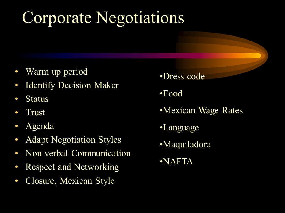 mexican negotiation style