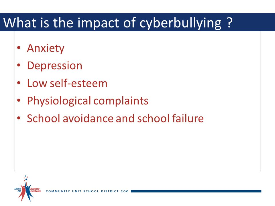 What is the impact of cyberbullying .