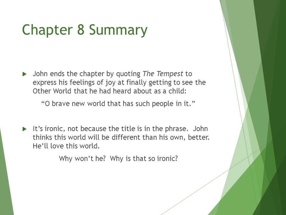 brave new world chapter 9 summary