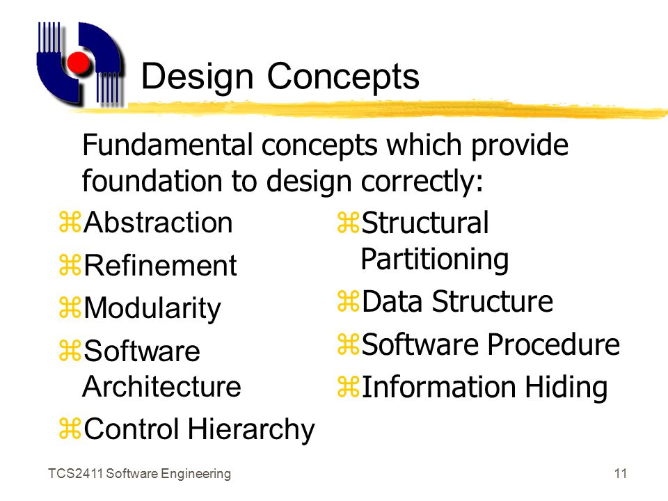 Tcs2411 Software Engineering1 Software Design Principles Producing The Software Blueprint Ppt Download