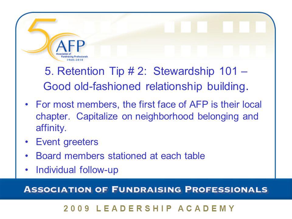 2009 LEADERSHIP ACADEMY Top Ten Chapter Marketing Tips