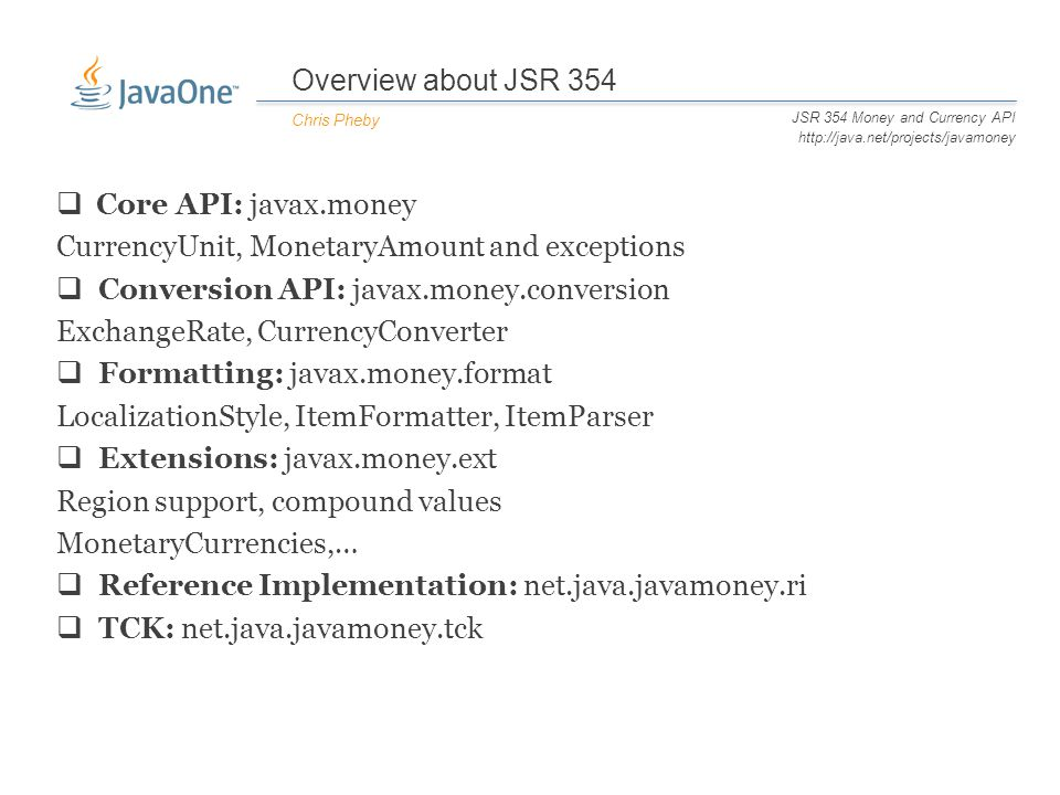 CON JSR 354 Money and Currency API Chris - ppt download