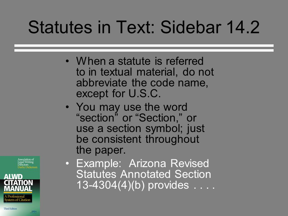 Statutes Alwd Rule 14 Copyright 2003 Darby Dickerson Permission