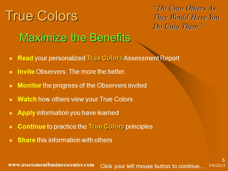 true colors assessment