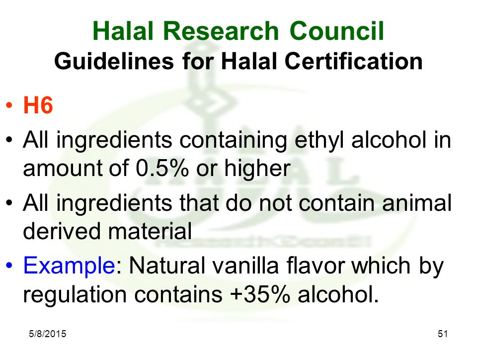 HALAL PRODUCTION REQUIREMENTS for Food Industry Dr  Javaid