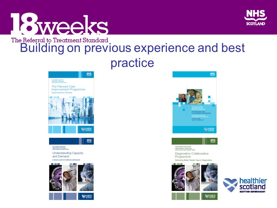 Building on previous experience and best practice