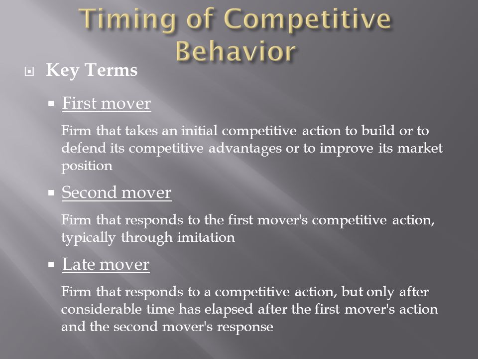 first mover vs late mover