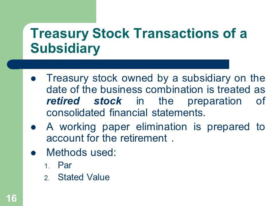 15 Stock Dividends Distributed by a Subsidiary Stock dividends declared by a subsidiary for which the parent company uses the equity method of accounting do not require any journal entries by the parent.