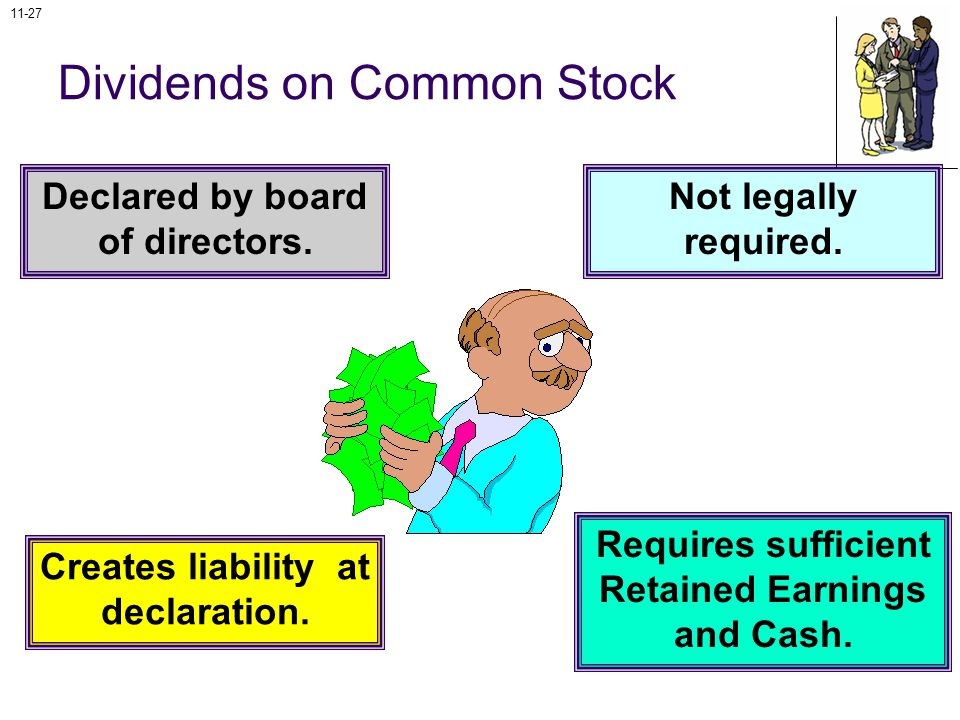 11-27 Dividends on Common Stock Declared by board of directors.