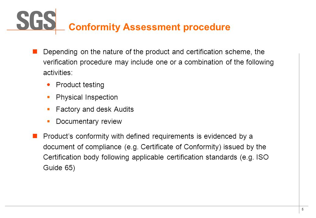 Product Conformity Assessment (PCA) September ppt download