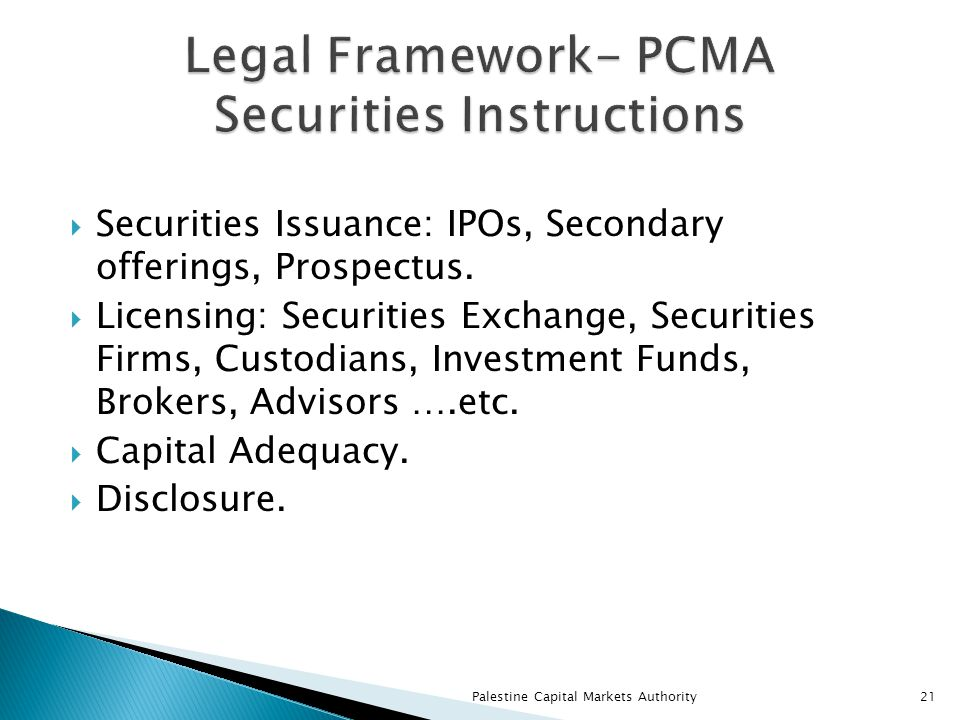  Securities Issuance: IPOs, Secondary offerings, Prospectus.