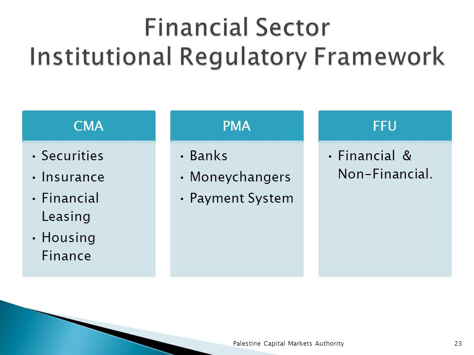 CMA Securities Insurance Financial Leasing Housing Finance PMA Banks Moneychangers Payment System FFU Financial & Non-Financial.