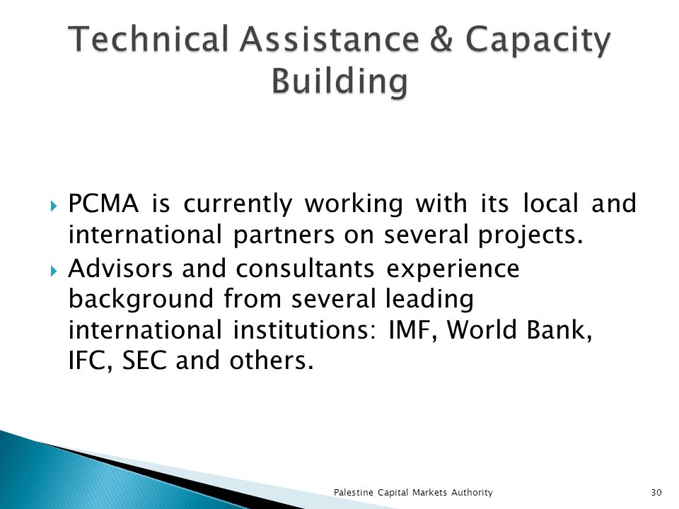 PCMA is currently working with its local and international partners on several projects.