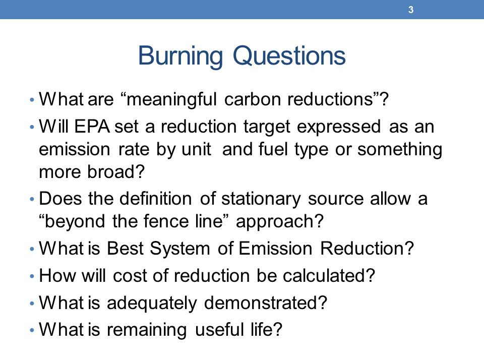 Burning Questions What are meaningful carbon reductions .