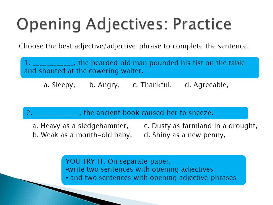 Adapted from Grammar for High School: A Sentence-Composing