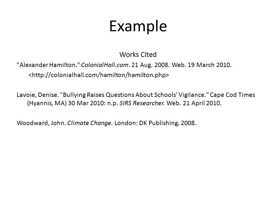 a brief introduction to citations works cited page title page