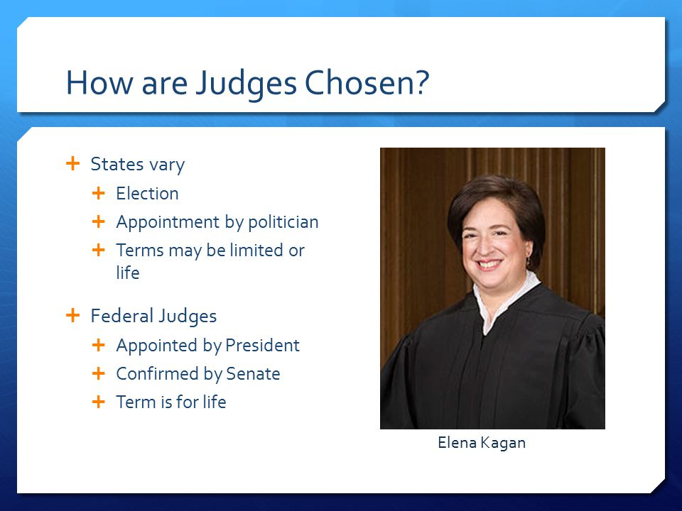 How are Judges Chosen.