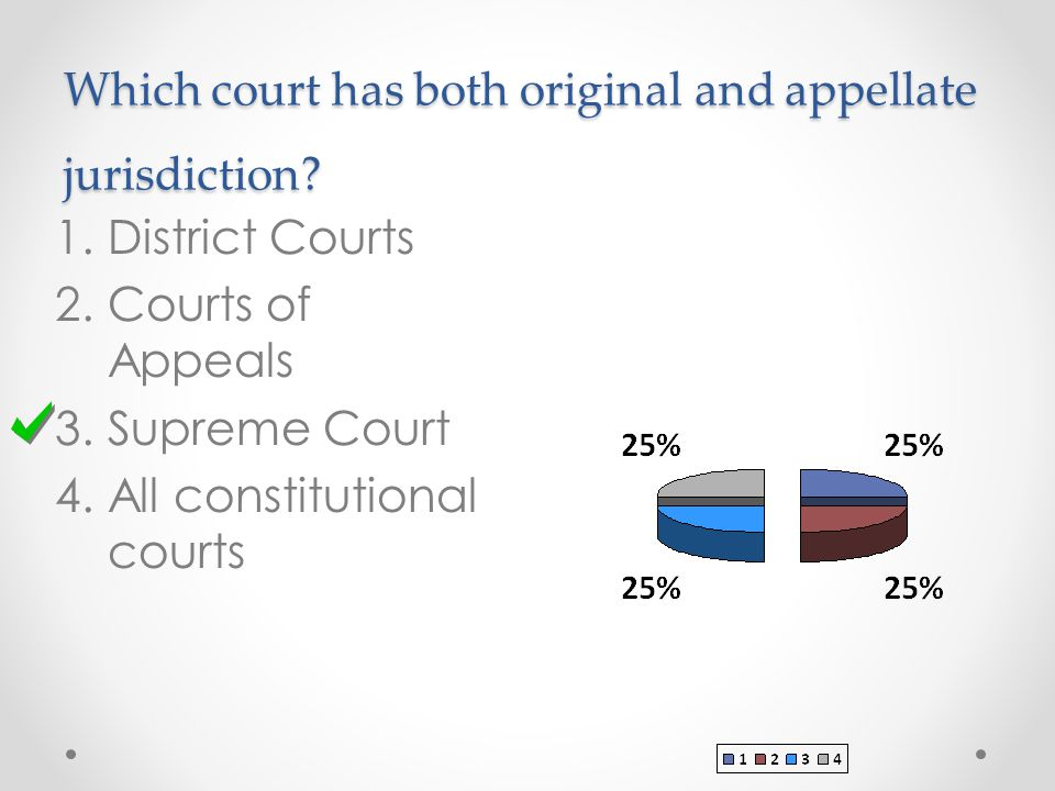 Which court has both original and appellate jurisdiction.