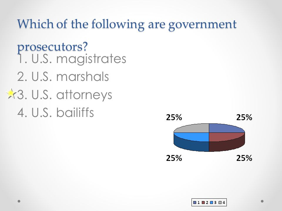 Which of the following are government prosecutors.