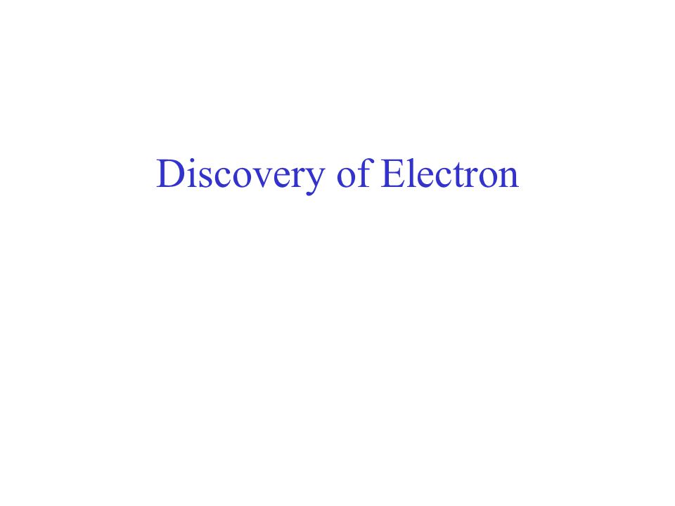 Discovery of Electron