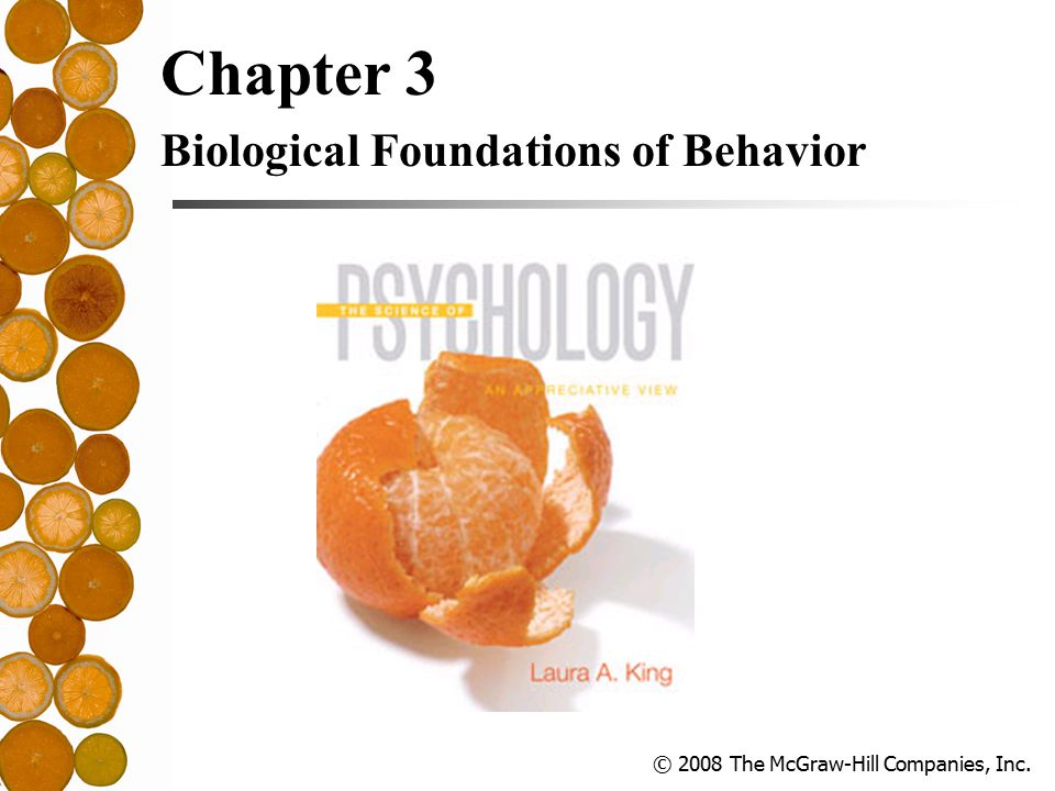 © 2008 The McGraw-Hill Companies, Inc. Chapter 3 Biological Foundations of Behavior