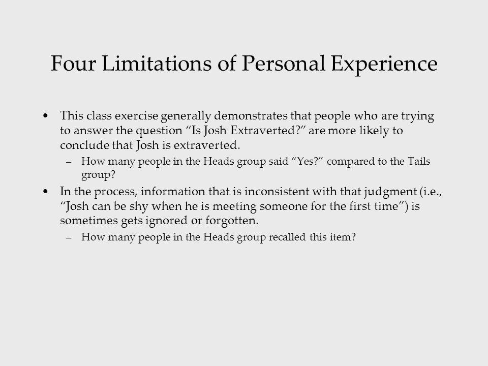 personal limitations