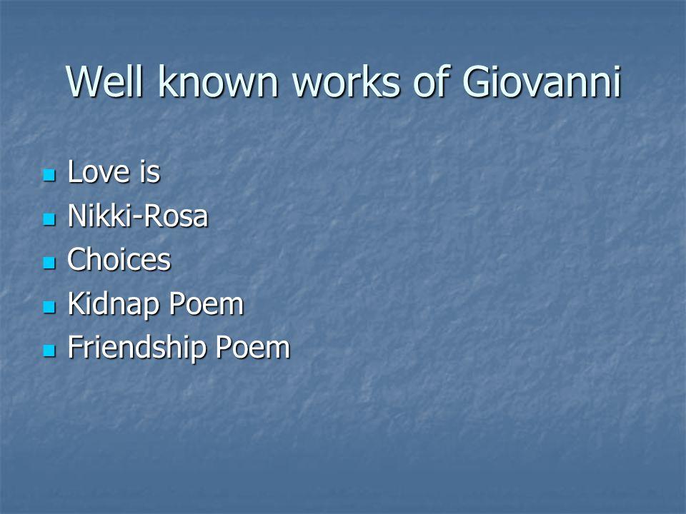 nikki rosa poem by nikki giovanni