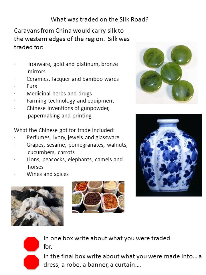 What was traded on the Silk Road.
