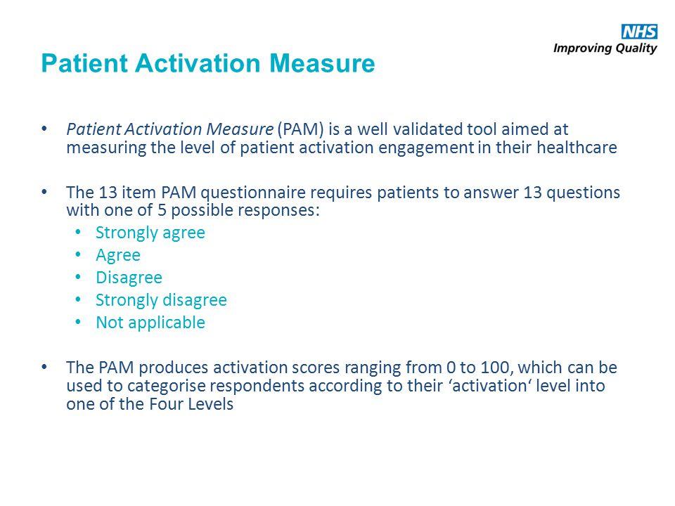 patient activation measure tool questions