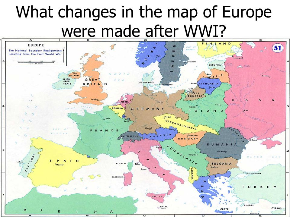 Pre- and Post War EuropeWar Europe What changes in the map of Europe ...