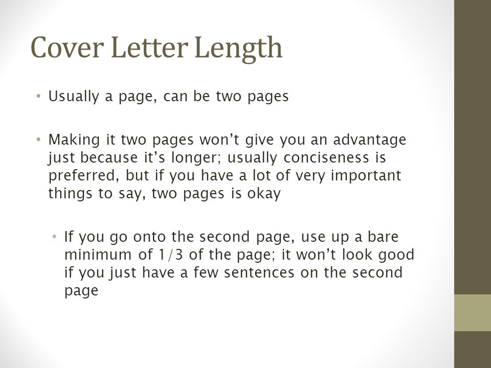 Wonderful 12 Cover Letter Length Usually A Page ...