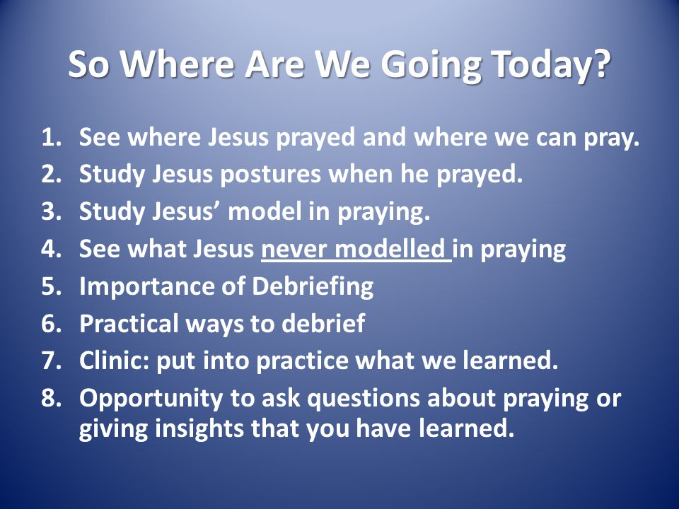 Learning to Pray Like Jesus The Kingdom of God  So Where Are