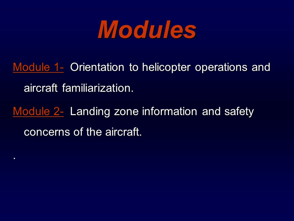 Air Rescue Operations  Overview of Program  This program is designed to familiarize all personnel with basic operations, layout and safety concerns of Air Rescue.