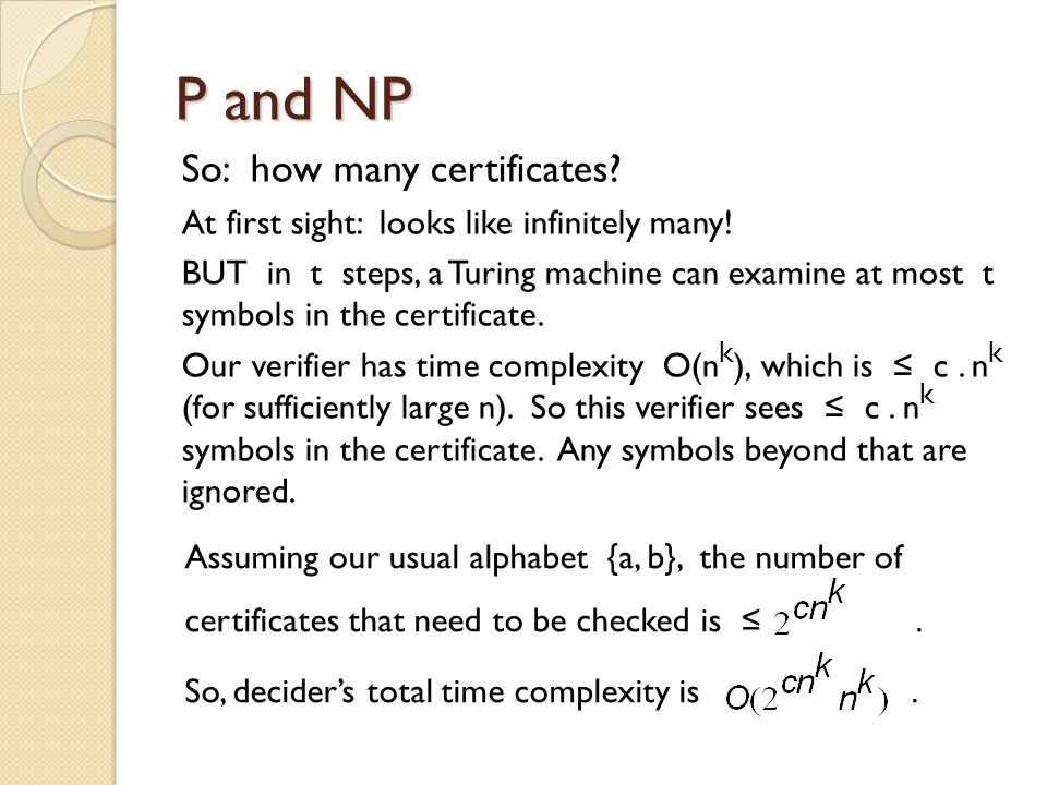 So: how many certificates. At first sight: looks like infinitely many.