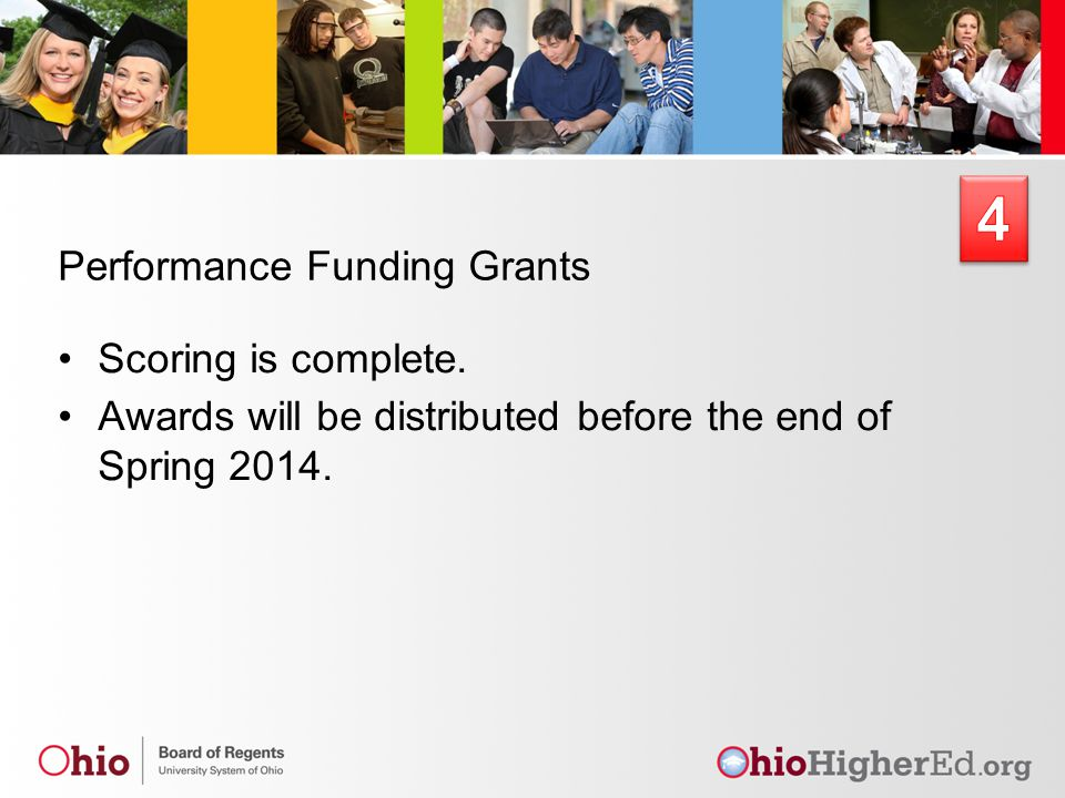 Performance Funding Grants Scoring is complete.