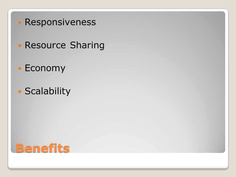 Benefits Responsiveness Resource Sharing Economy Scalability