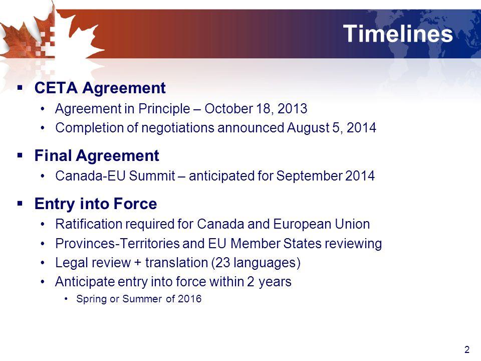 Canada European Union Eu Comprehensive Economic And Trade