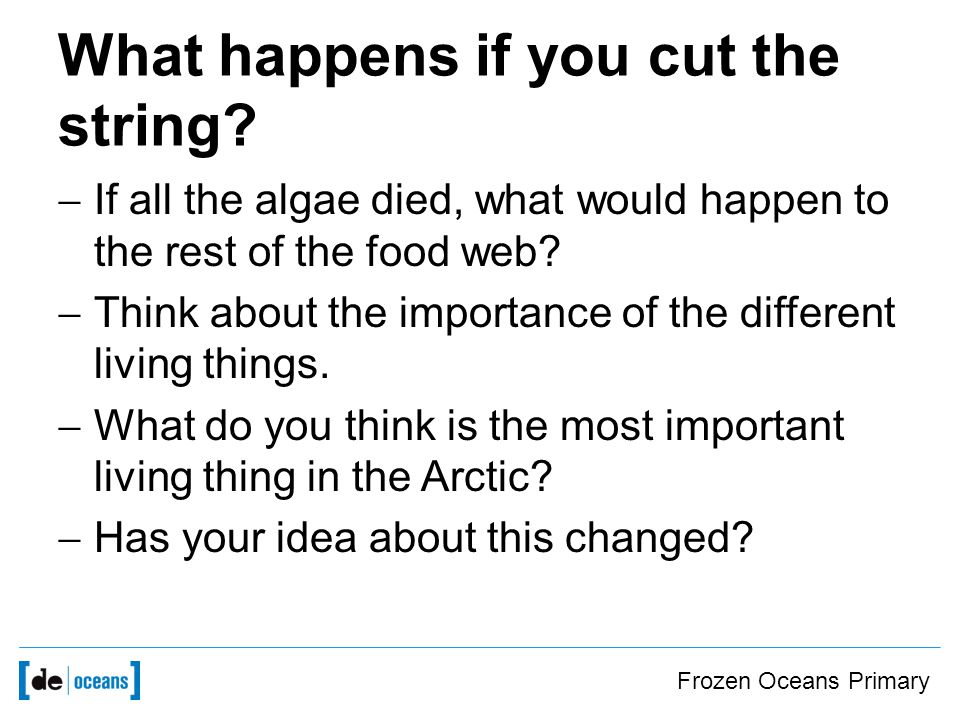 What happens if you cut the string.