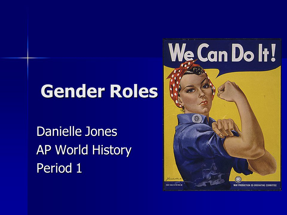 history of gender roles