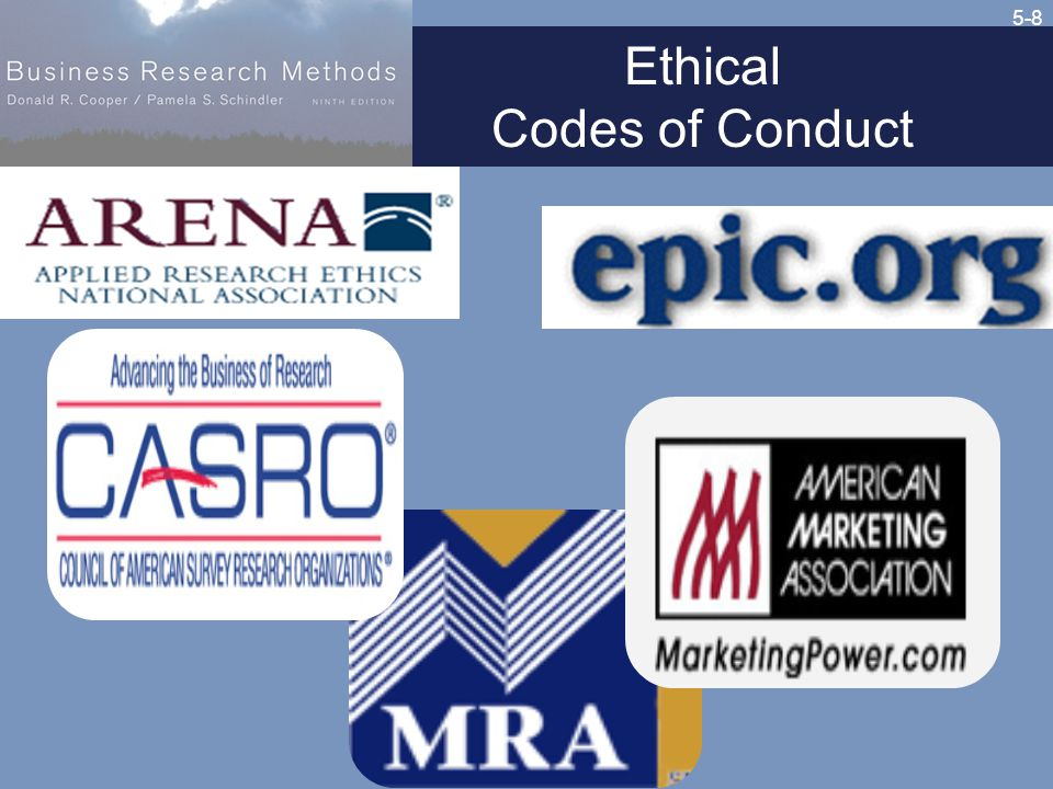 5-8 Ethical Codes of Conduct