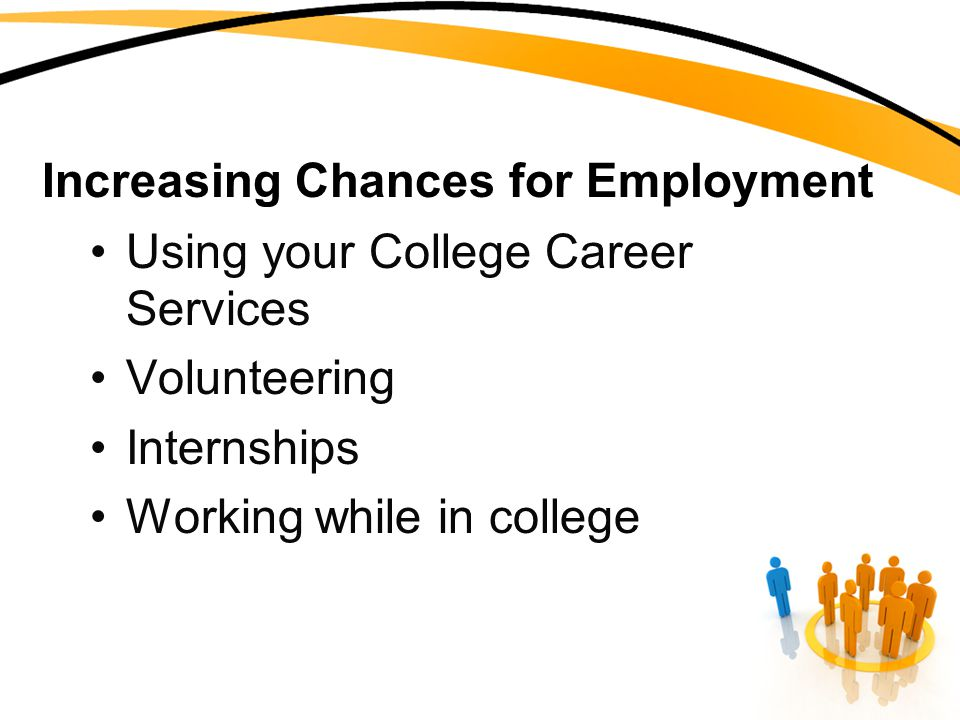 Increasing Chances for Employment Using your College Career Services Volunteering Internships Working while in college